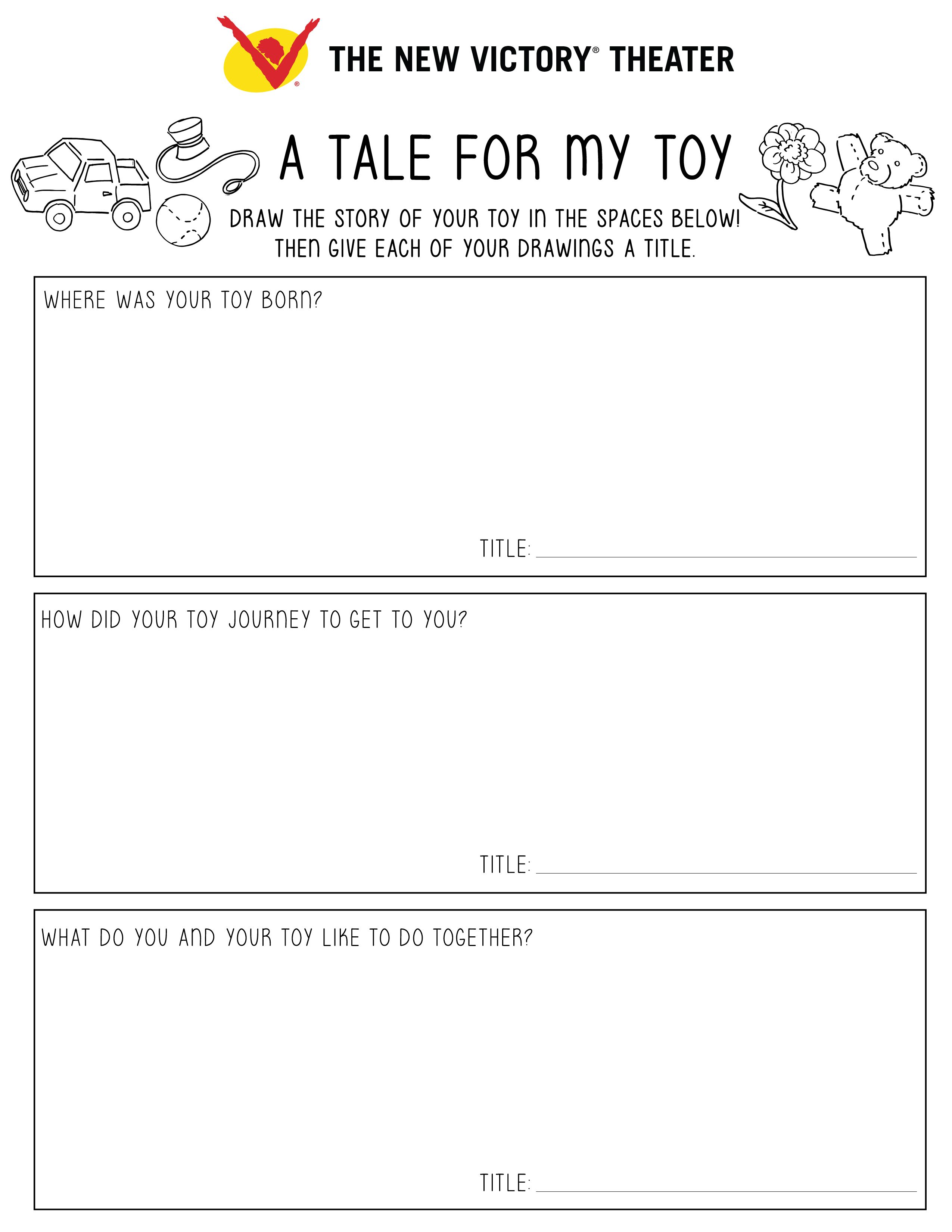 Guide Your Kids Through Telling The Tales Of Their Toys With This At Home Education Idea And