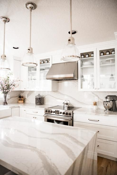 Best Sleek Pure White Sherwin Williams Shaker Cabinets And 640 x 480