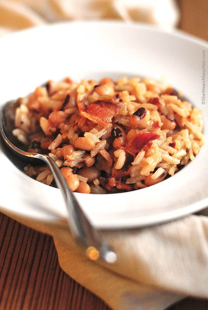 Hoppin John is a traditional southern New Year's Day dish