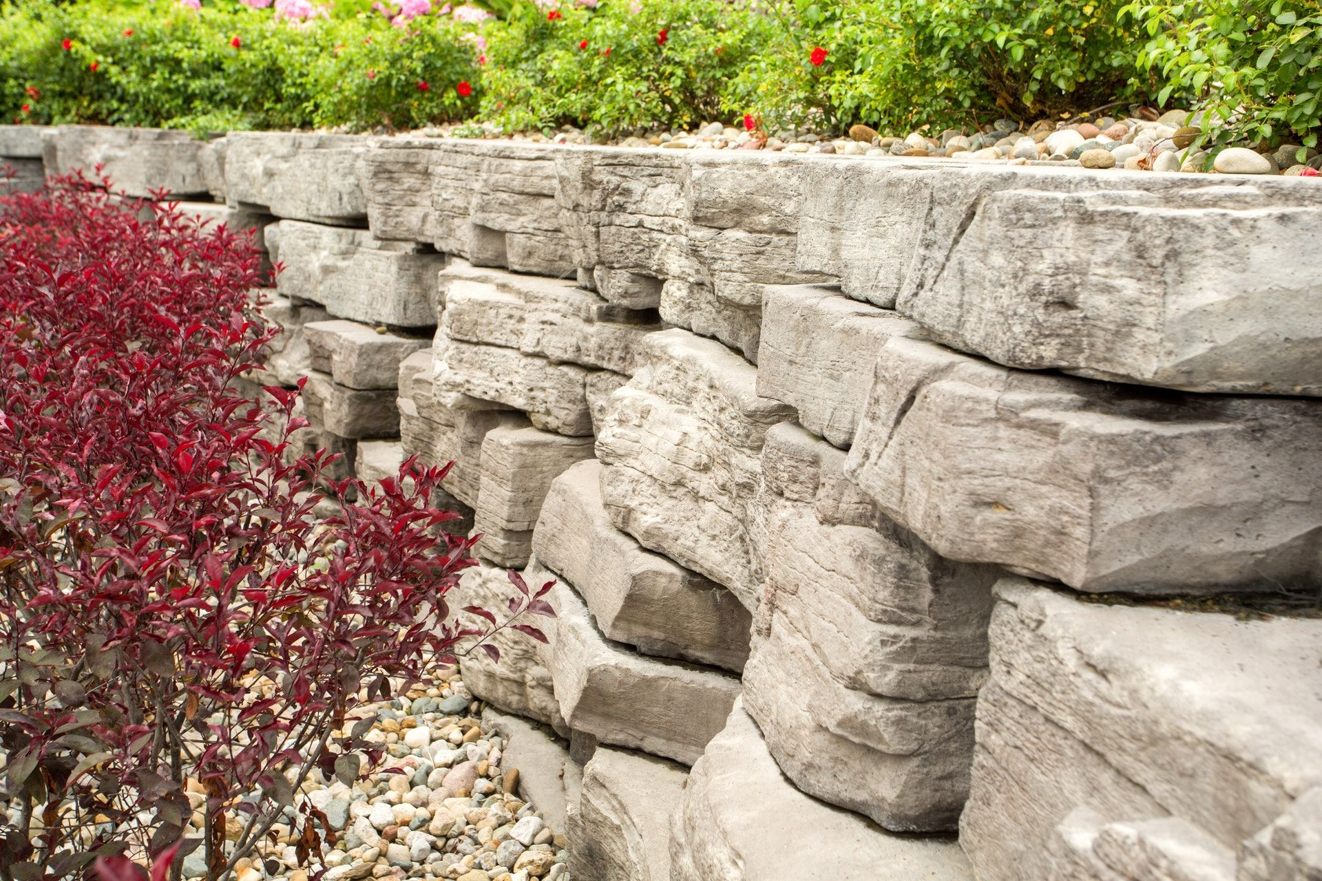 landscaping ideas with outcropping collection by rosetta hardscapes