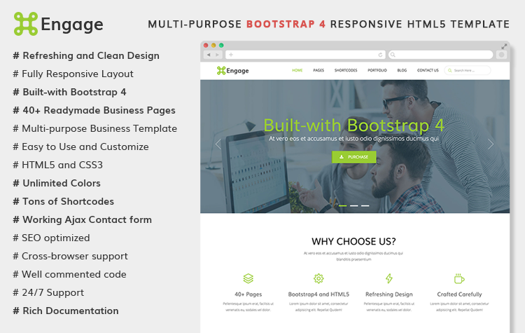 Engage – Multi-purpose Bootstrap 4 Template | HTML Bootstrap