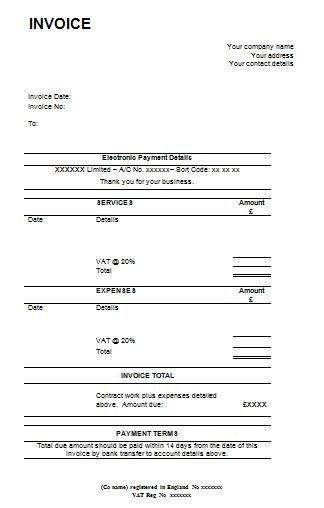 invoice template rev , 13 Invoice Template for Easier Use , Free - professional invoice template word
