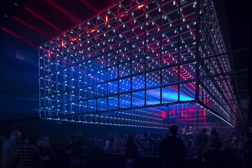New S o Paulo club The Year has a light installation that reacts to  partygoers  CreditNew S o Paulo club The Year has a light installation that reacts  . Nightclub Lighting Design Installation. Home Design Ideas