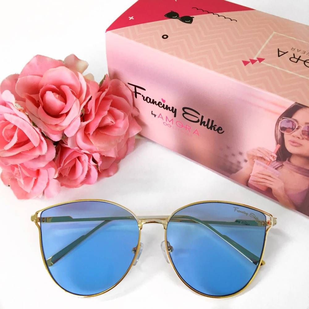 245683f93161f Óculos Franciny Ehlke   Veneza Azul Transparente   Acessórios ...