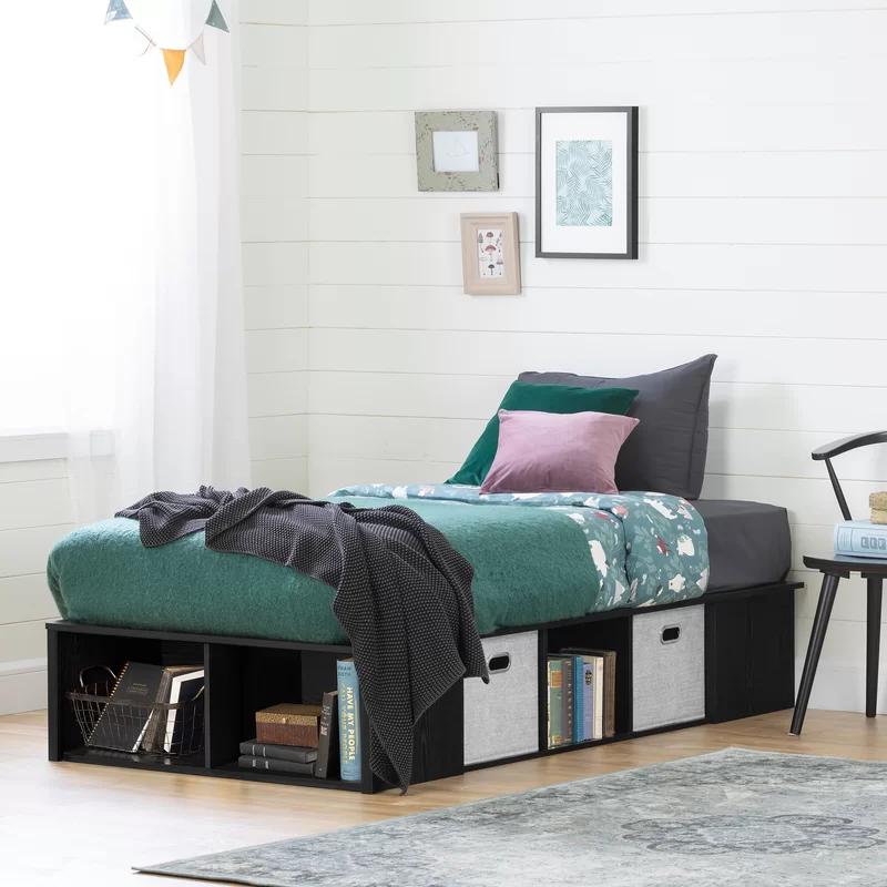 Flexible Storage Platform Bed Platform bed, Furniture