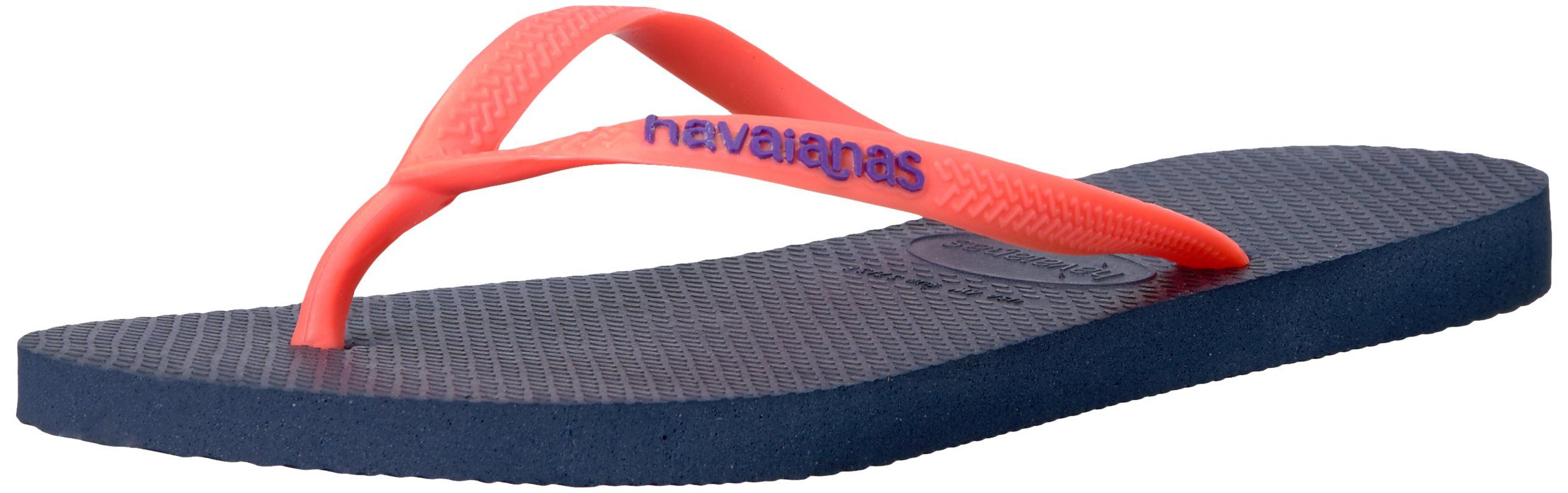 Havaianas Women's Slim Animals Flip Flop, Navy Blue, 37/38 BR (7-8 M US)