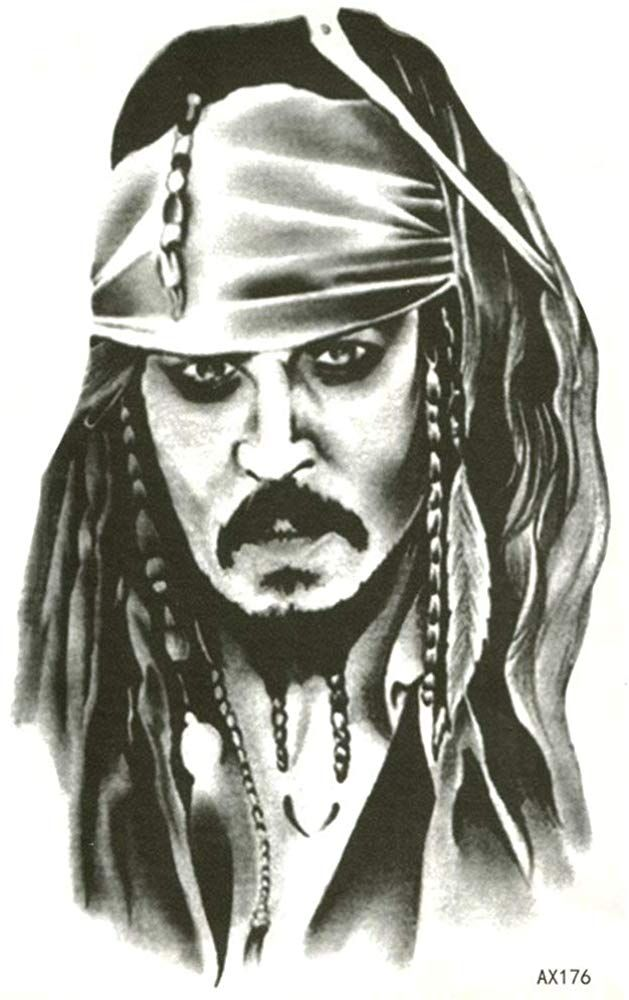 EROSPA Tattoo-Bogen temporär - Captain Jack Sparrow - Fluch der Karibik #makeup #Augen #Gesicht #Körper #Lippen #Schönheit #geschenkideen #tattoocaptain