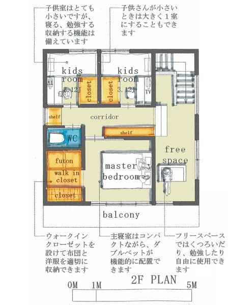 子育て世代の小さな住宅 b 1 25 03坪 2階建 20坪 間取り 家の
