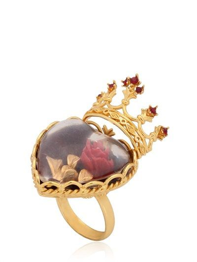 91345a31 DOLCE & GABBANA SACRED HEART RING, GOLD. #dolcegabbana #rings ...