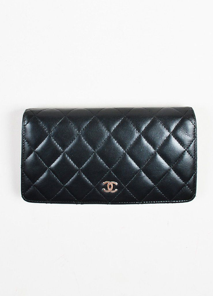 7716debe2566f0 Chanel Black Quilted Leather