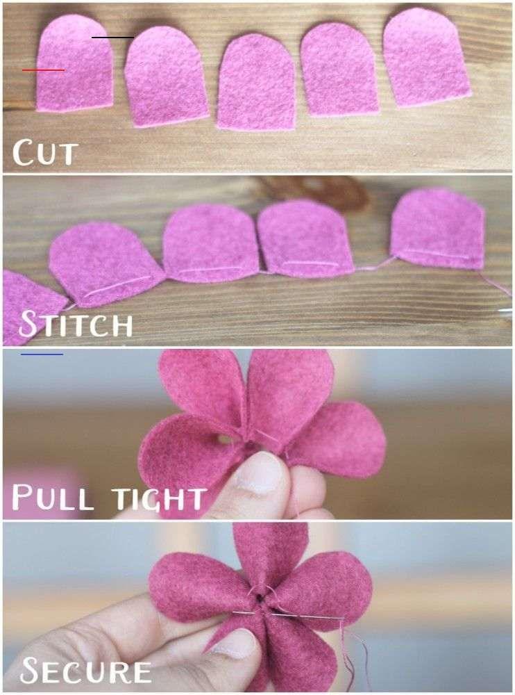 Felt flower tutorial spring collage crafts unleashed