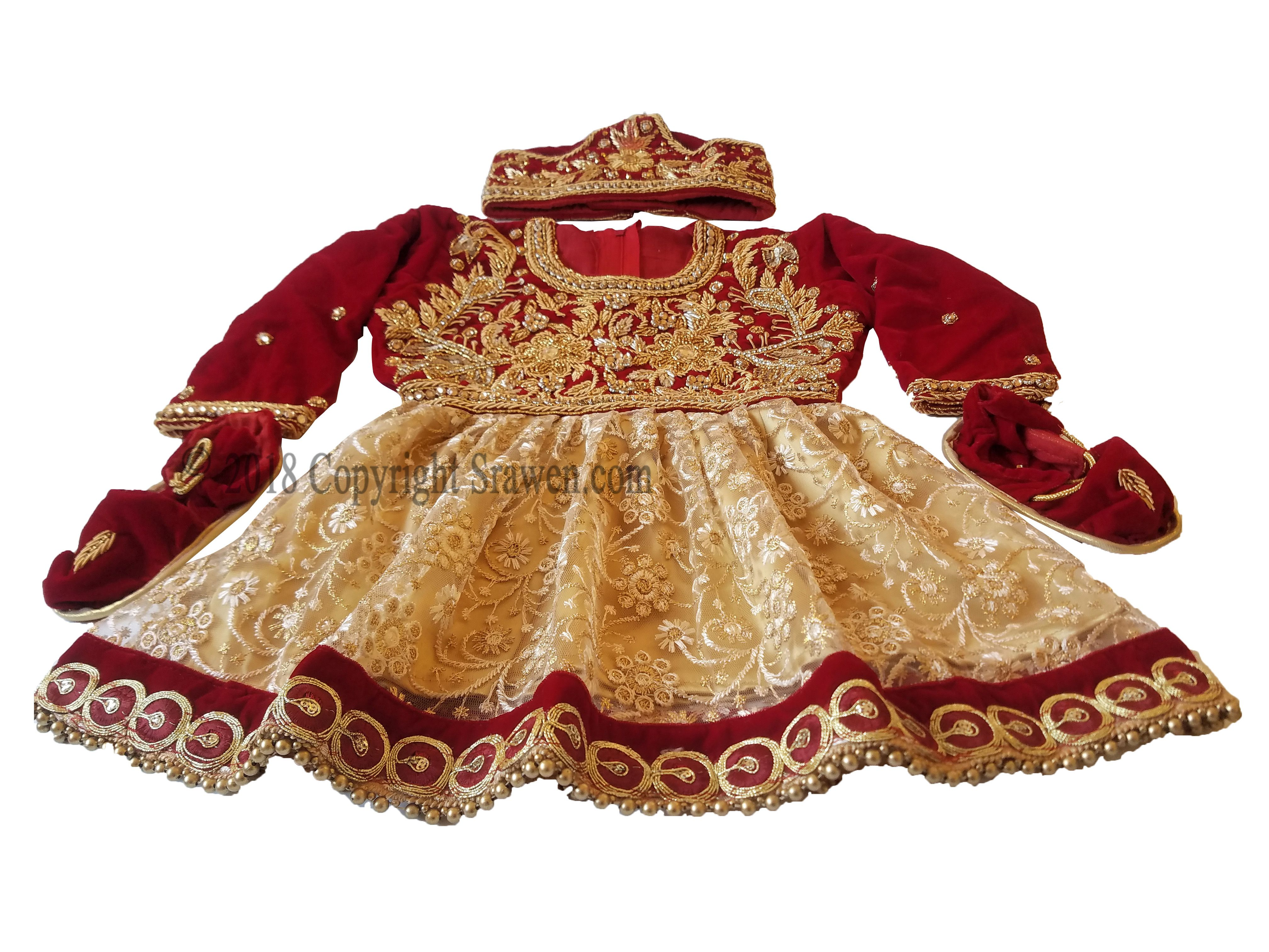 69547e3926d6 This is a 100% brand new never used red velvet pasni dress for new born  babies for their special rice feeding ceremony that marks their 6 months.