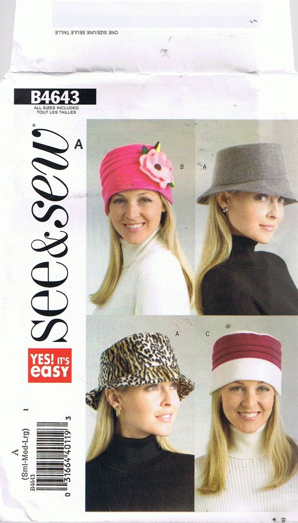 Pillbox Cloche Brimmed Hats Sewing Pattern by howtobooksandmore ...