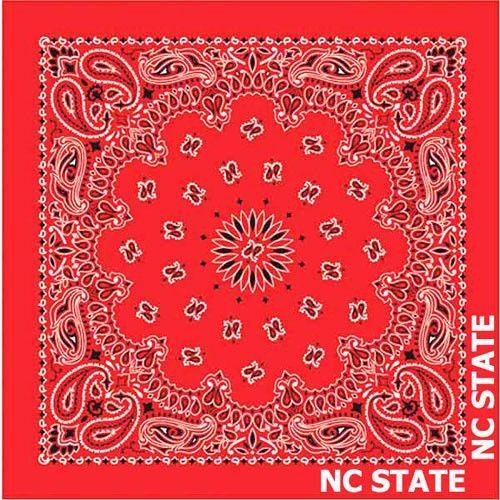 """North Carolina State Wolfpack Bandana-NC State BANDANNA-22/""""X22/"""" Square"""