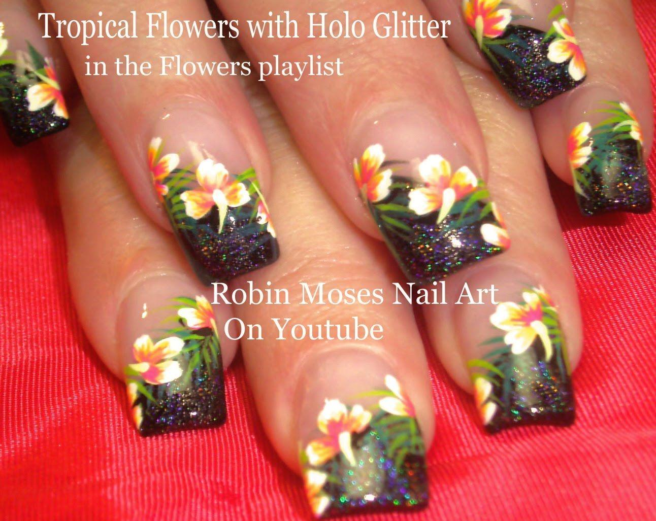 Nail art tutorial diy tropical flower nails summer hibiscus nail nail art tutorial diy tropical flower nails summer hibiscus nail design izmirmasajfo