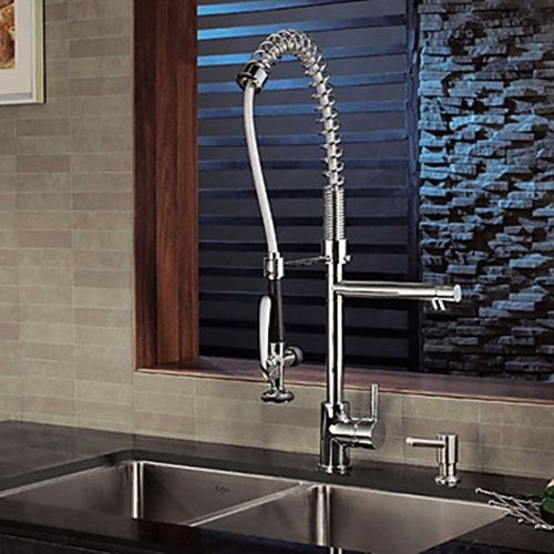 Contemporary Solid Br Spring Kitchen Faucet