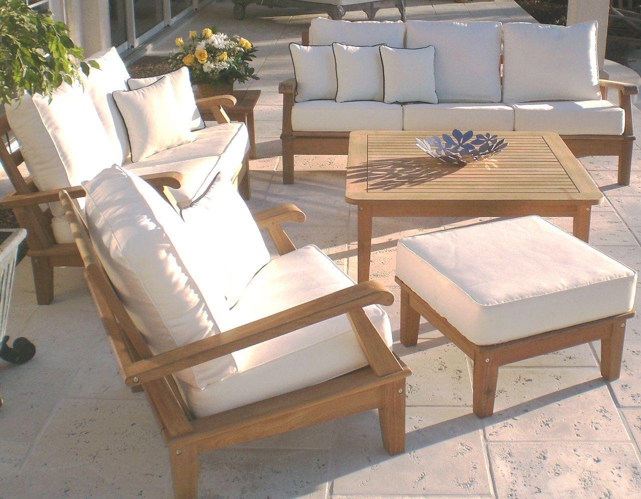 Teak Deep Seating Patio Furniture
