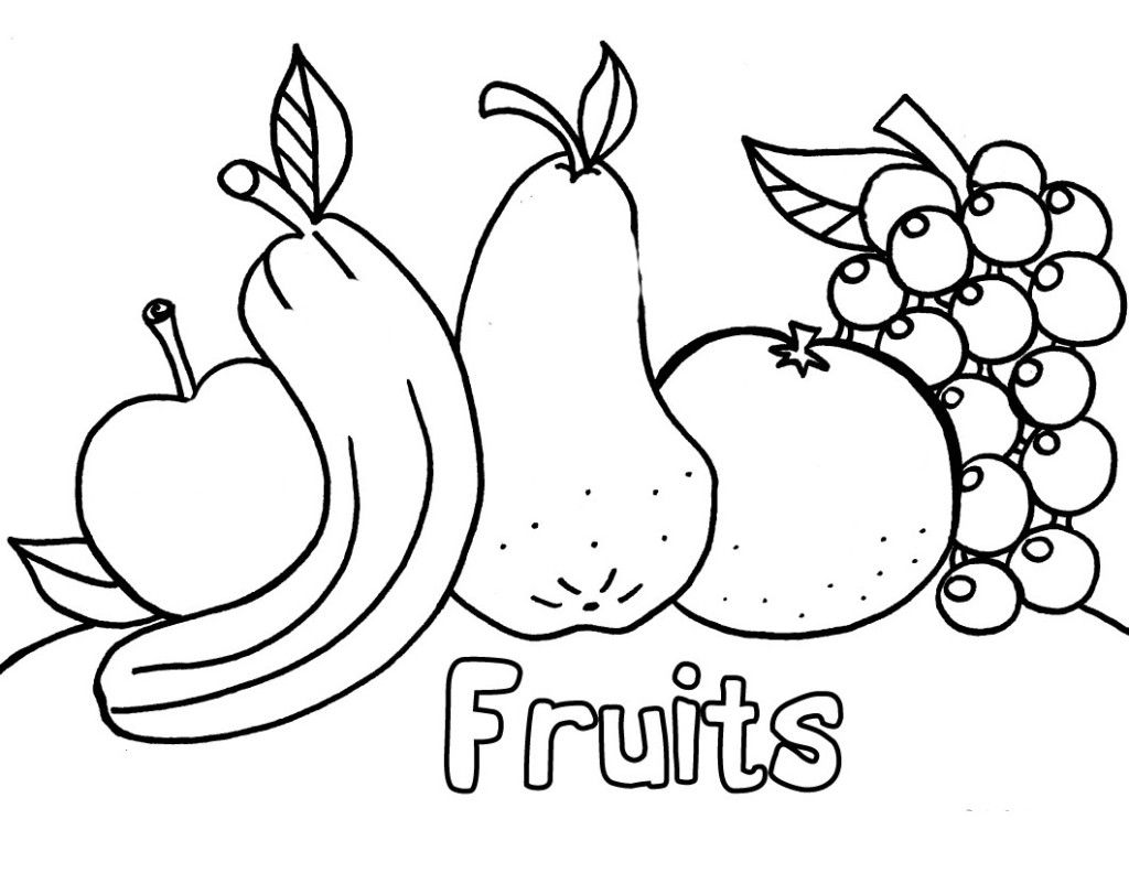kids coloring pages free printable fruit coloring pages for kids - Coloring Pages For Preschoolers