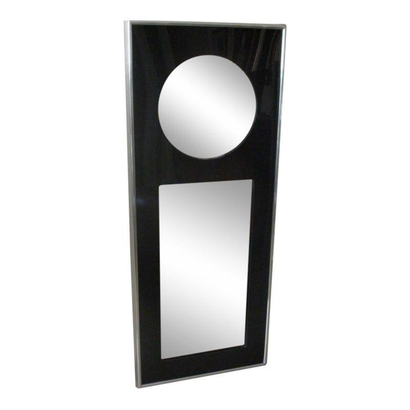 1960s Vintage Mid Century Modern Op Art Floor Length Mirror