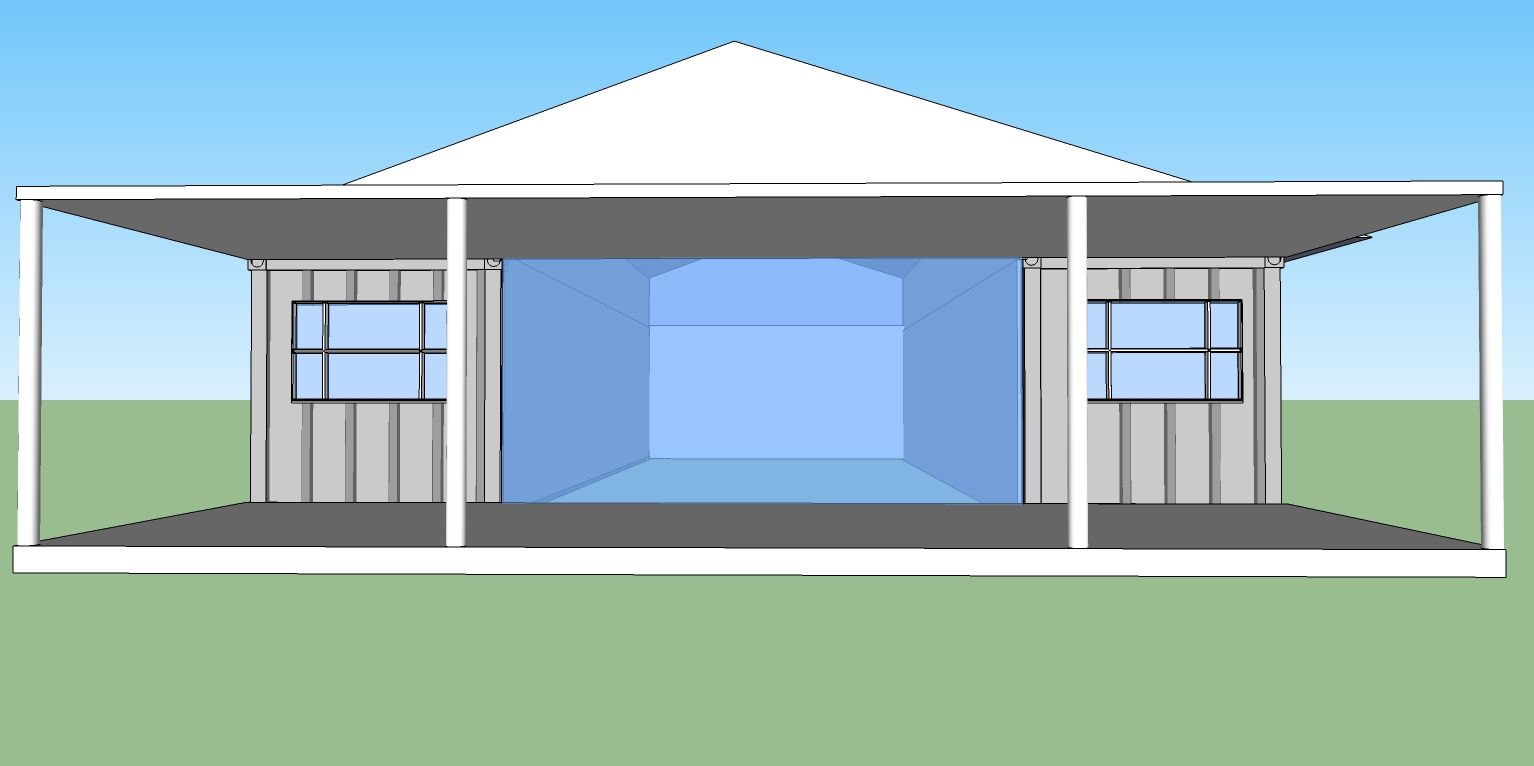 Design Container Home Concept Several Concept Drawings W Cost Estimates For Strawbale Insulation .