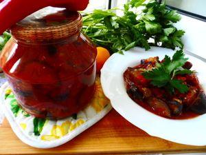 баклажаны в томатном соусе на зиму рецепты с фото