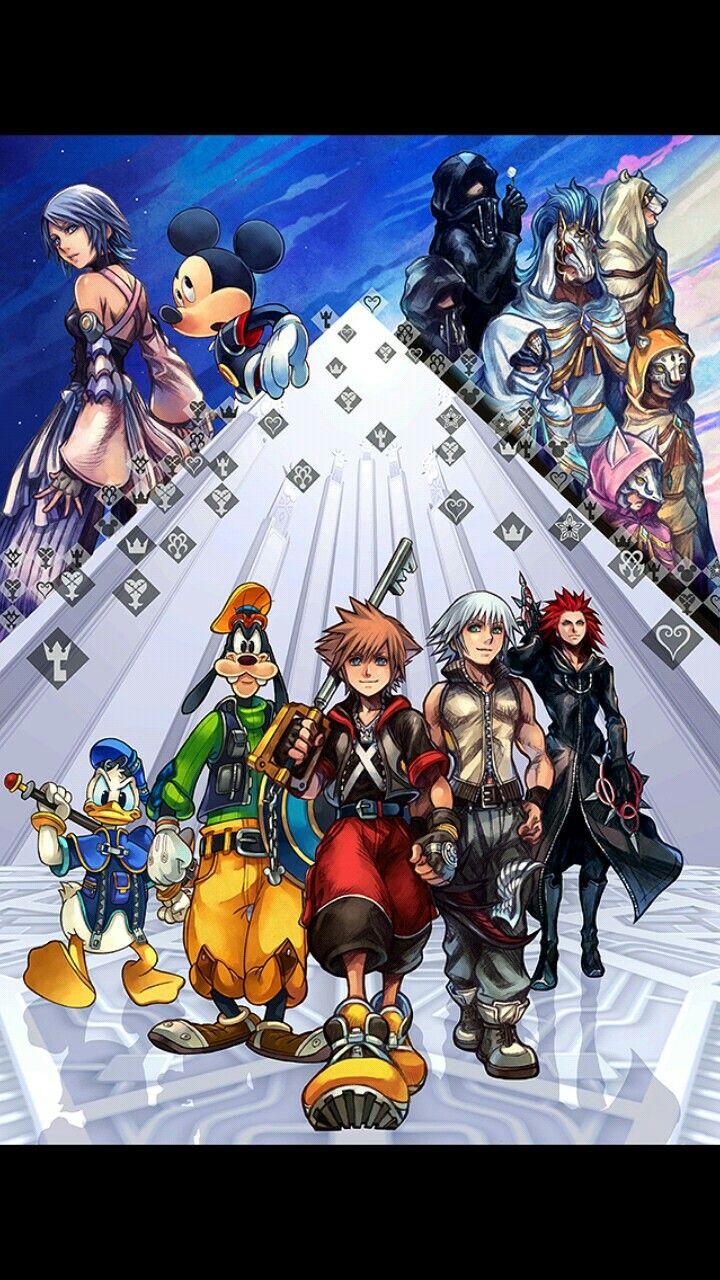 Kingdom Hearts 2 8 Key Art Kingdom Hearts Wallpaper Kingdom
