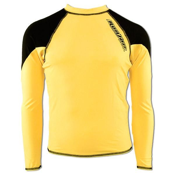 9a2f1d4f73 Ron Jon Mens Long Sleeve Rashguard , Yellow and Black - Mens Surfwear $32