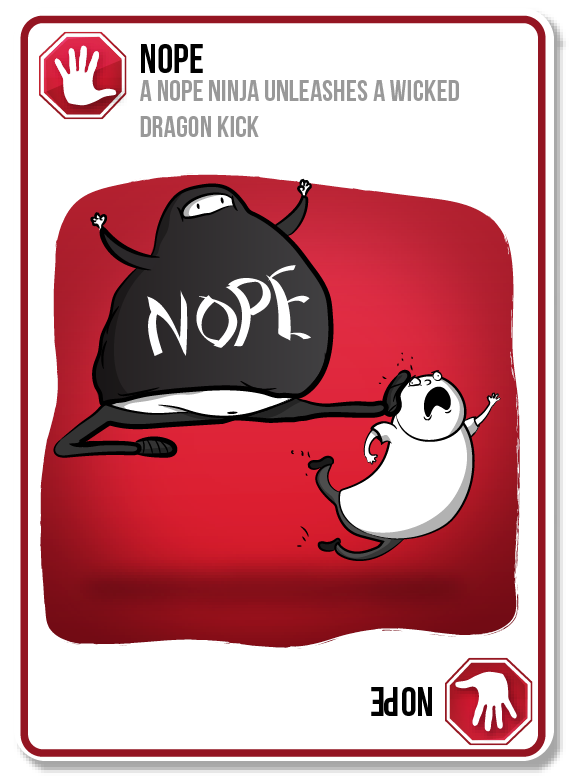 exploding kittens nope card google search miscellaneous