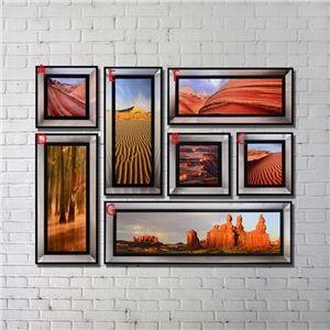 Leinwandbild Abstrakt Landschaft Galerie Bild Digitaldruck 7er-Set
