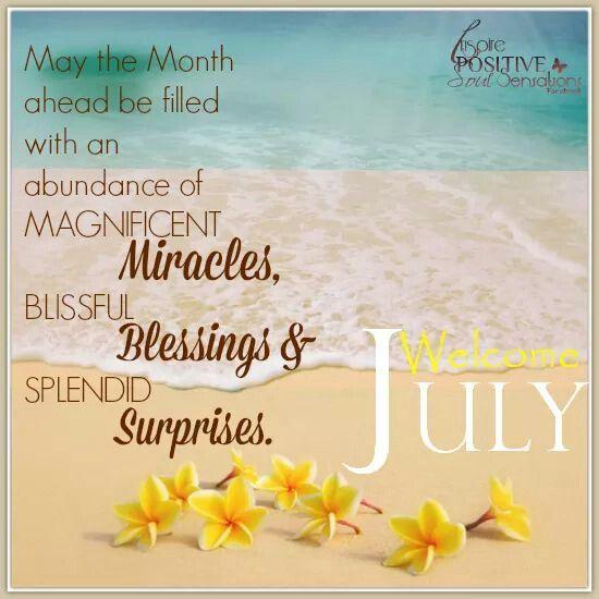Risultati immagini per welcome july
