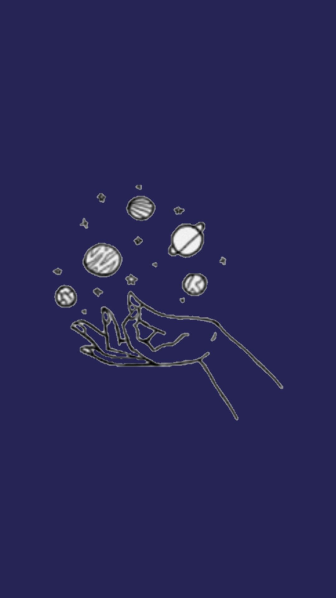 Planets Outline Blue Navy Solarsystem Tumblr Tumblrposts