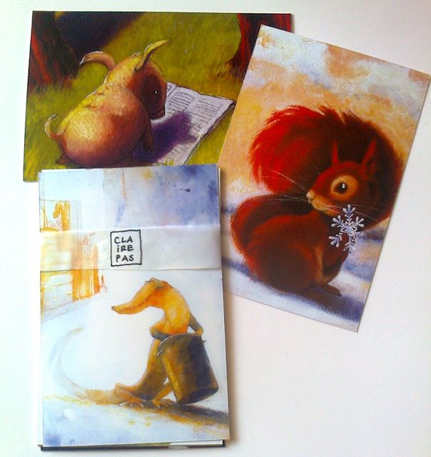 set of three postcards - available in my etsy shop