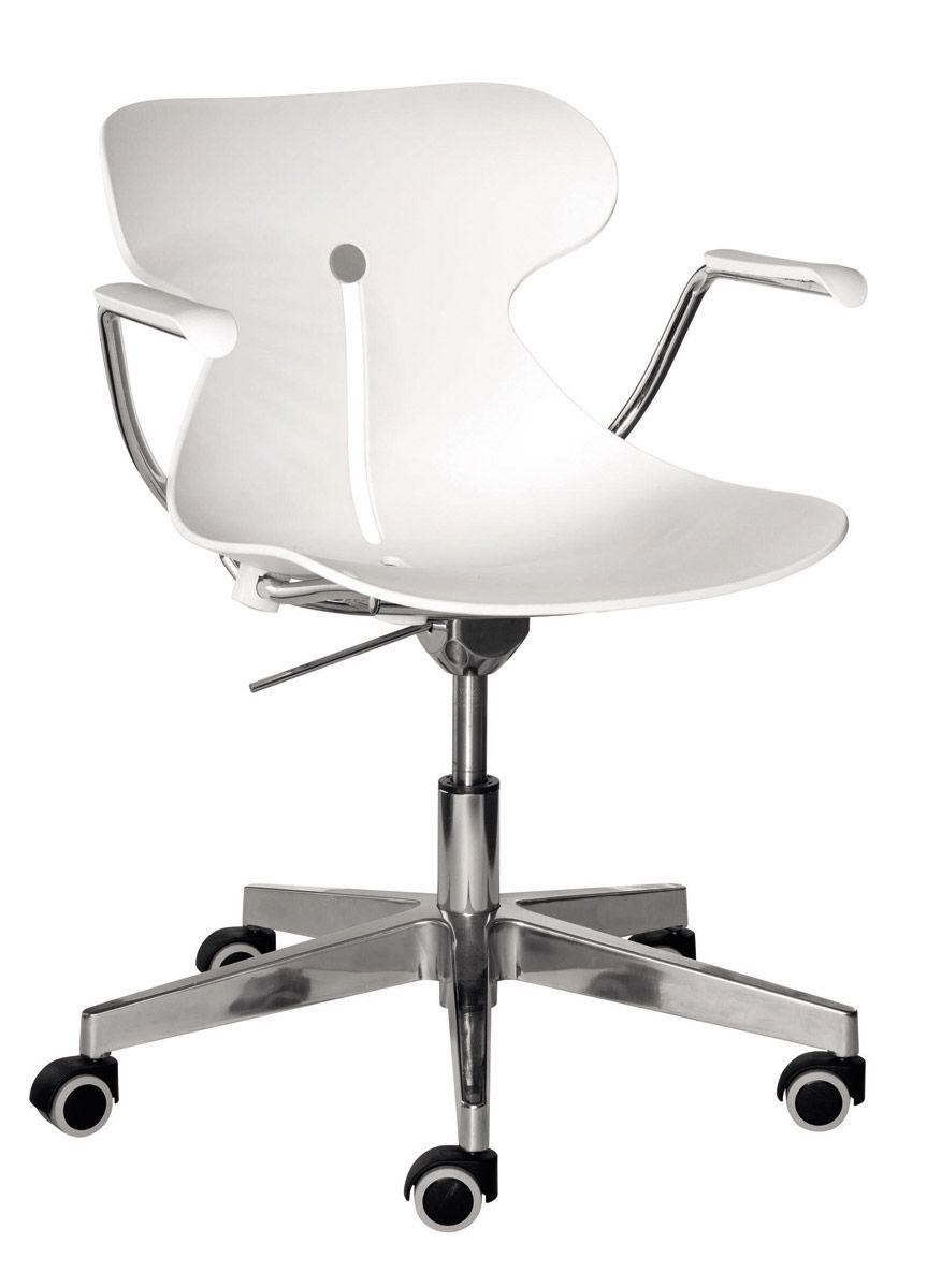 Chaise Plastique Roulettes Blanche Design Sur VauréalFurnitures dxroCBe