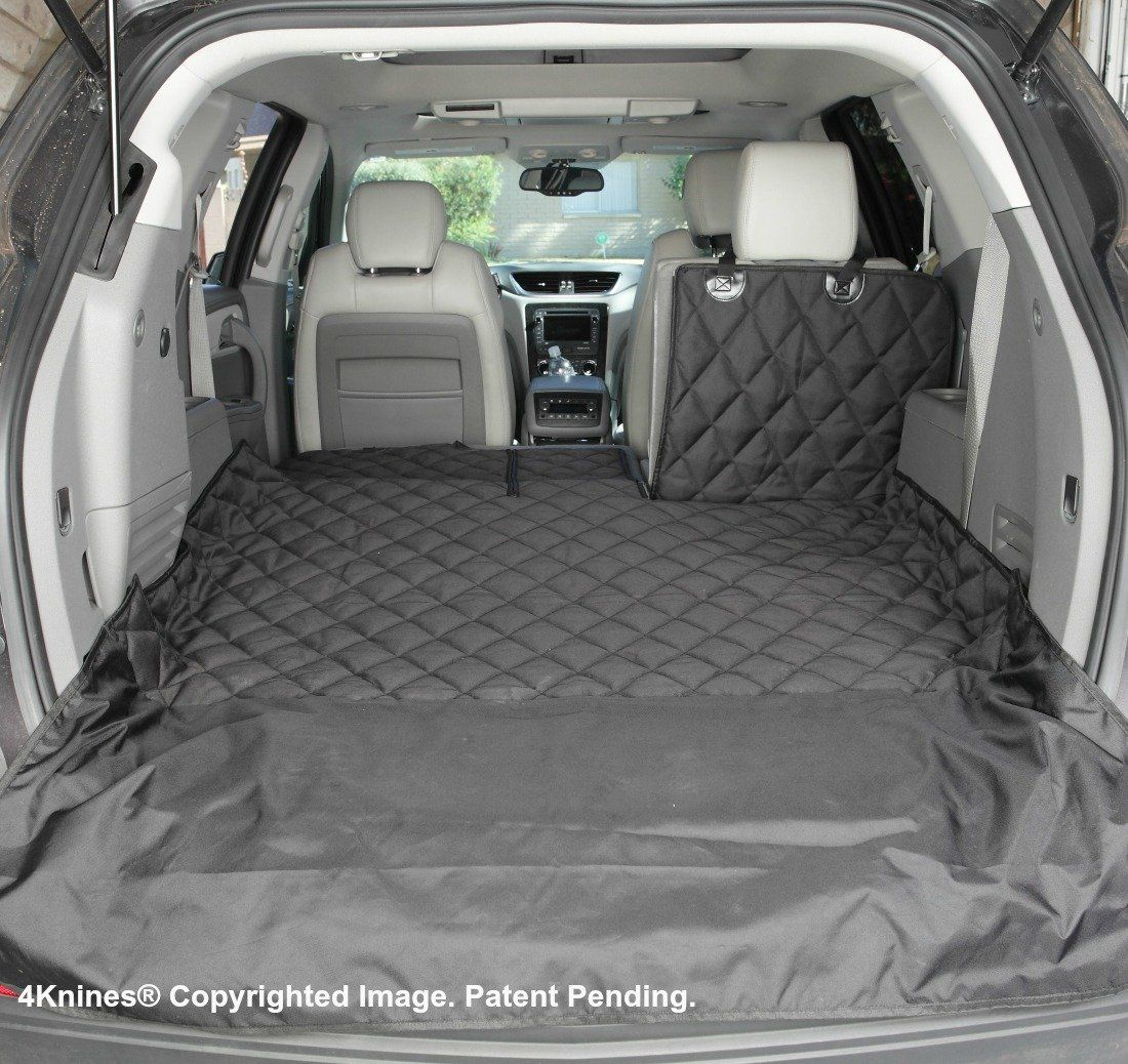Extra Large, Tan USA Based Company 4Knines SUV Cargo Liner for Fold Down Seats 60//40 Split and Armrest Pass-Through Compatible