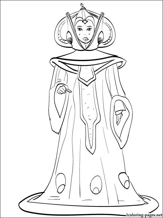 Star Wars Padme Amidala Coloring Page Star Wars Coloring Sheet Star Wars Colors Star Wars Padme