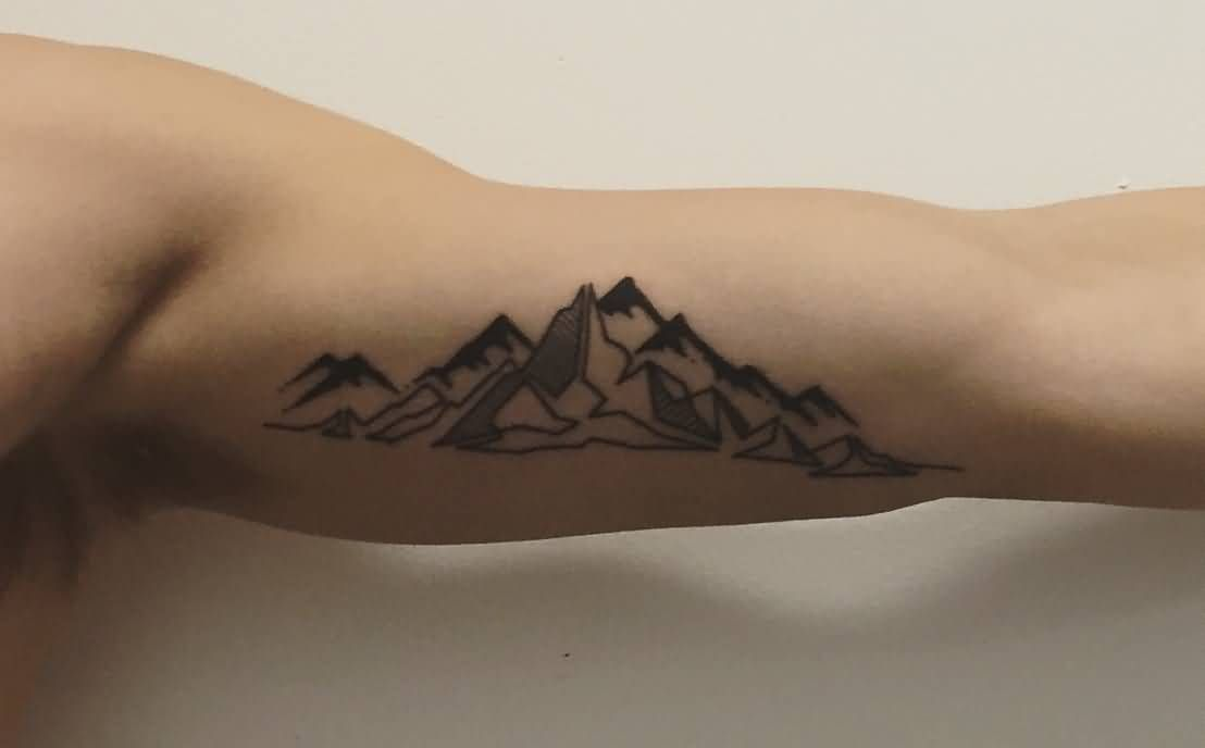 Pin By Josh Feinerman On Tattoos Geometric Mountain Tattoo