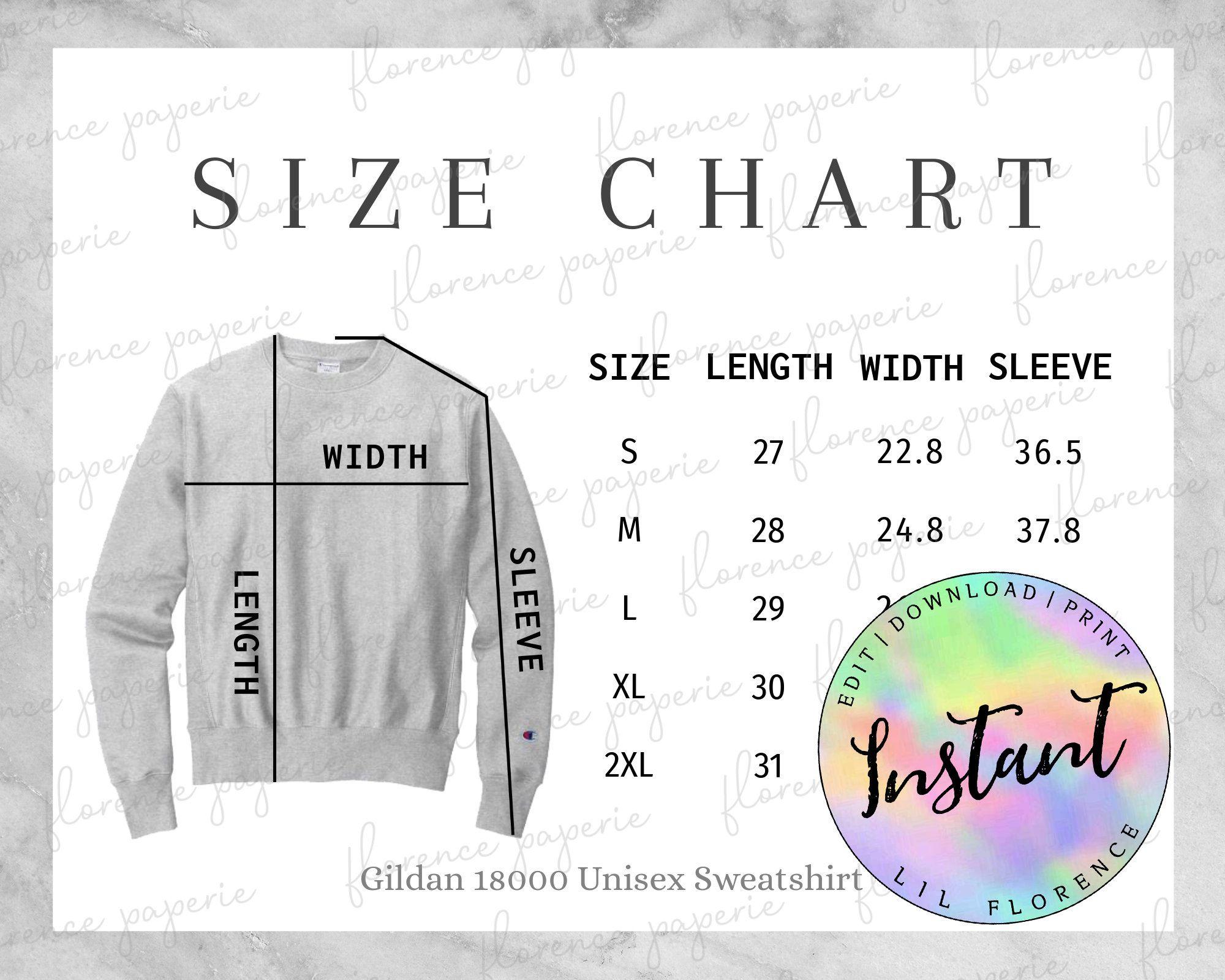 Champion S149 Sweatshirt Size Chart Men S Champion S149 Crew Neck Sweatshirt For Printful Downloadable Printab Long Sleeve Tshirt Men Size Chart Sweatshirts [ 1600 x 2000 Pixel ]
