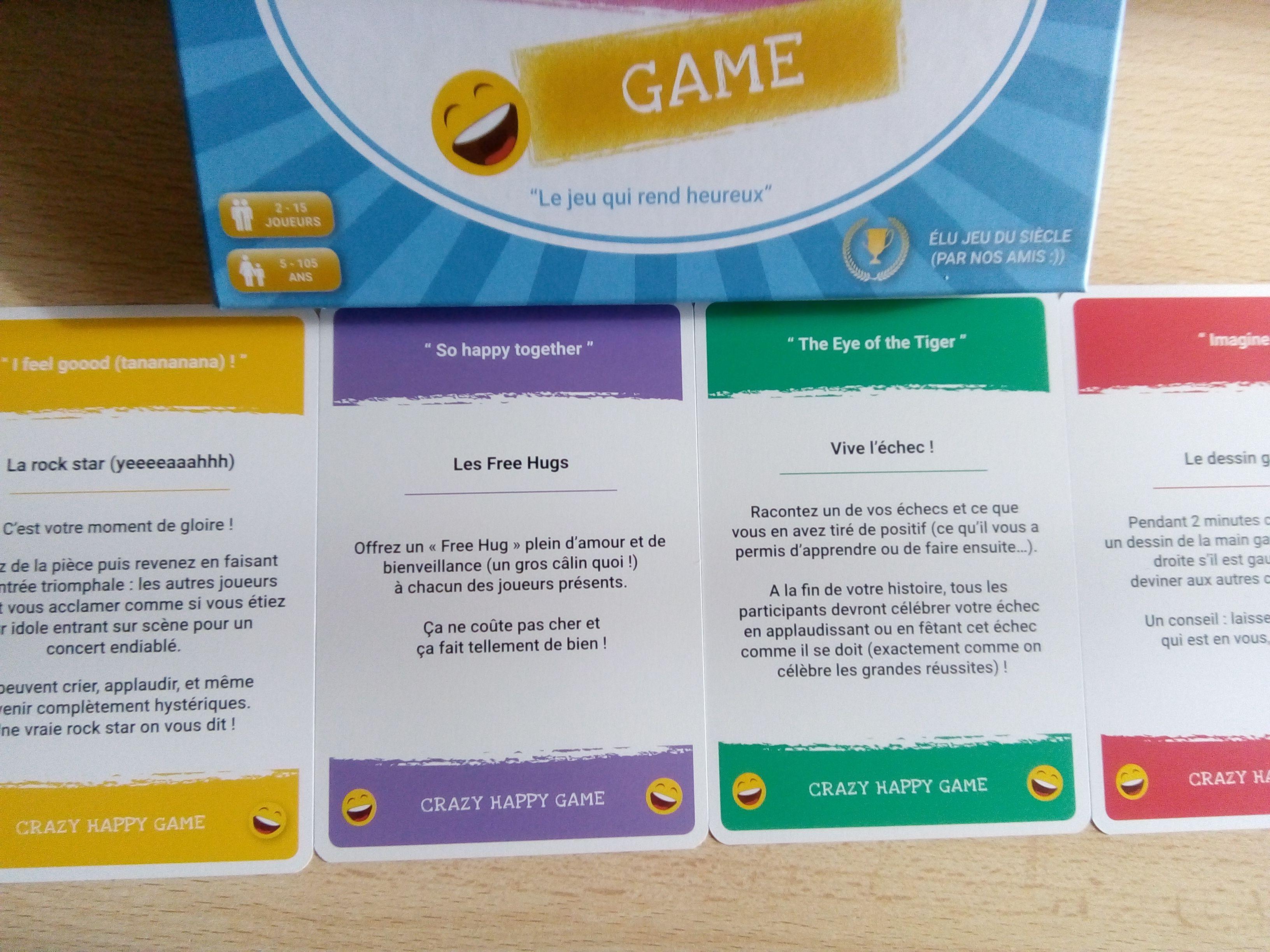 Crazy Happy Game Un Jeu De Cartes Base Sur La Psychologie Positive Qui Cree Des Liens Et Rend Heureux Psychologie Positive Jeu De Cartes Psychologie