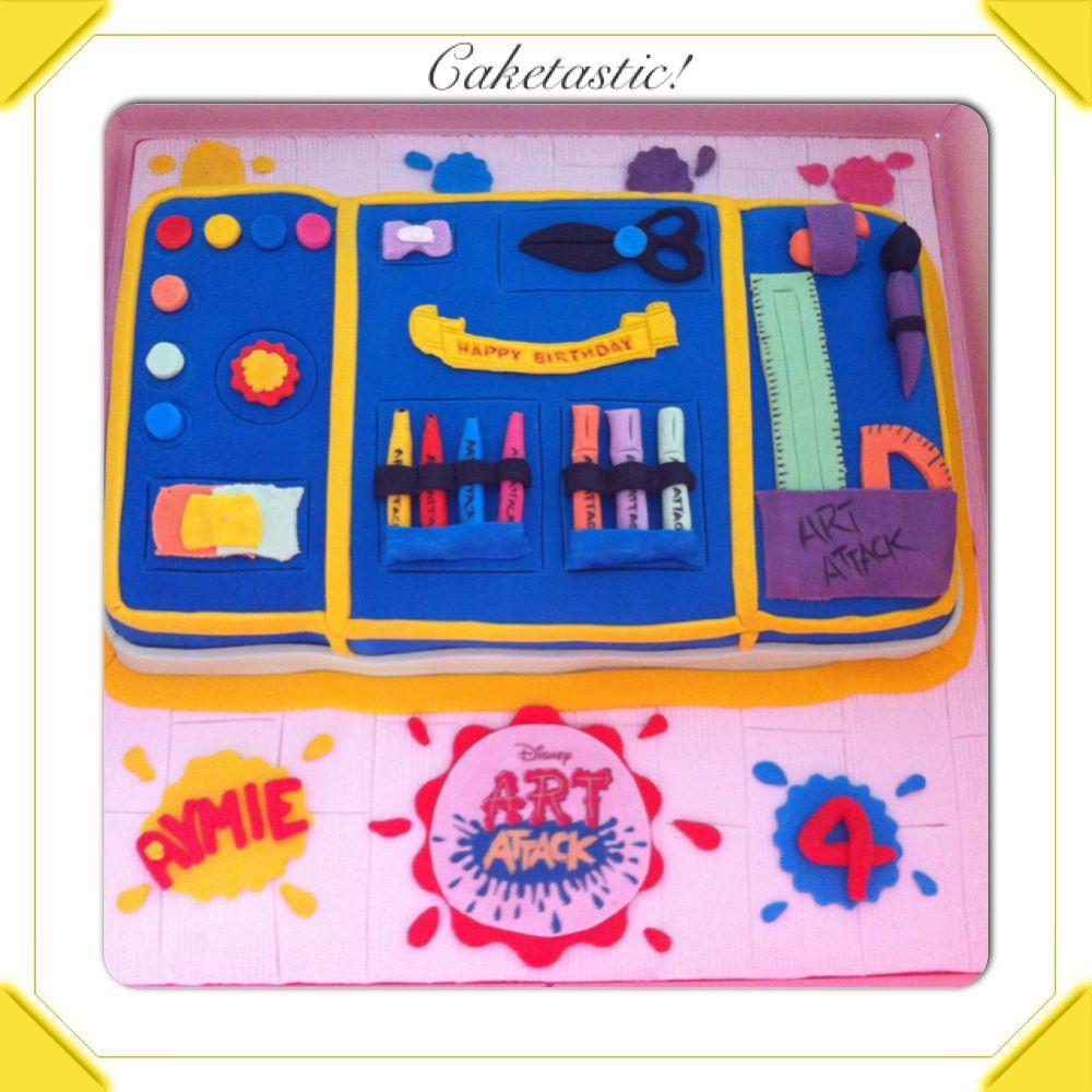 Disney Art Attack Cake httpswwwfacebookcompagesCaketastic
