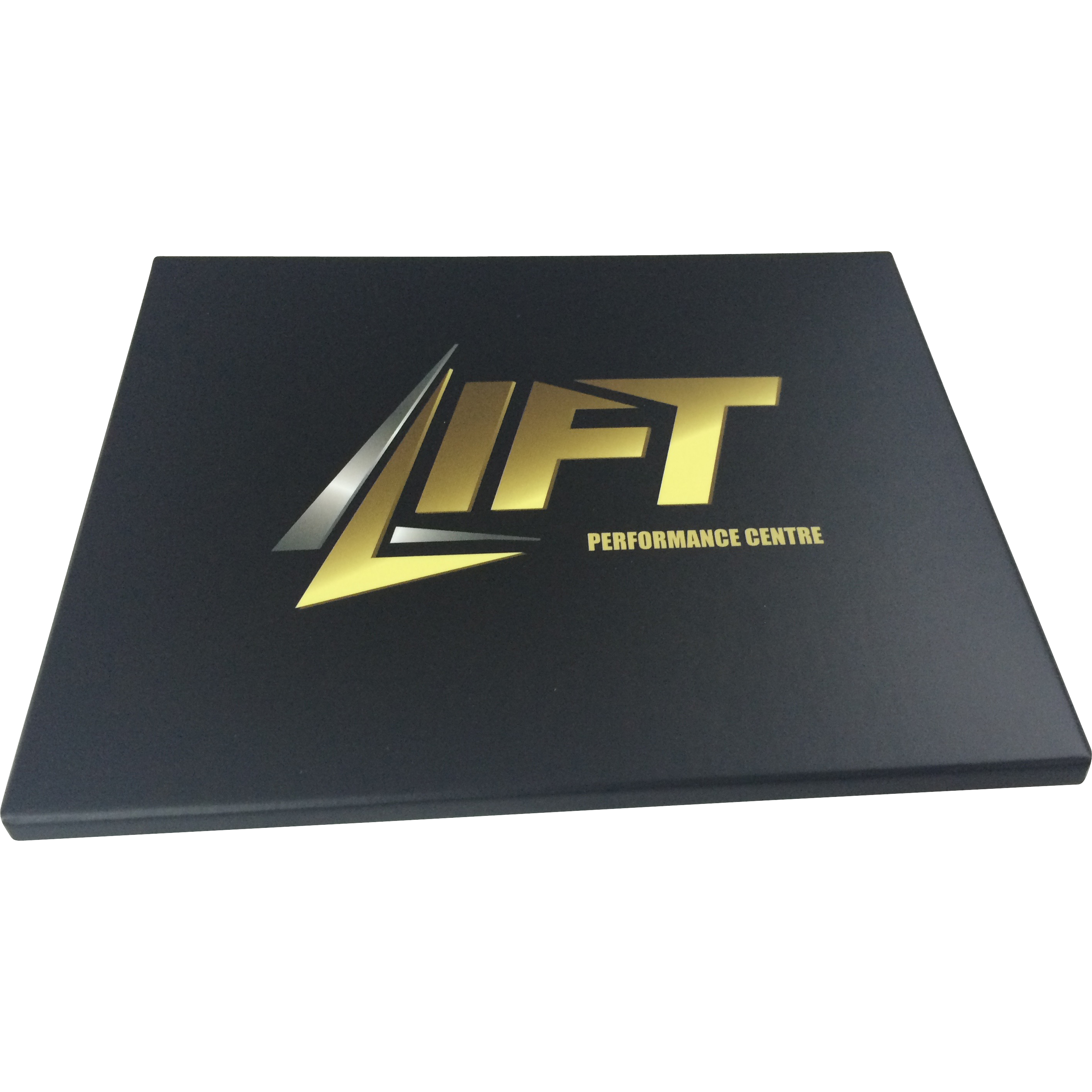 Voucher gift box. Flat pack box with company branding
