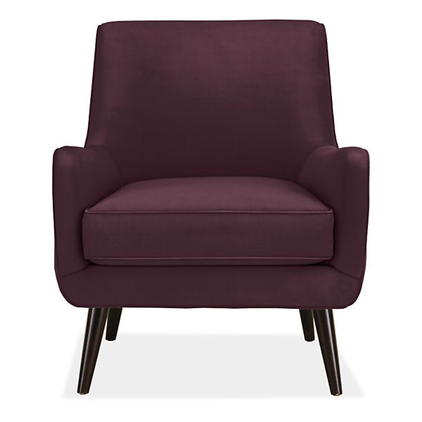Quinn Chair Amp Ottoman In View Fabric Modern Accent