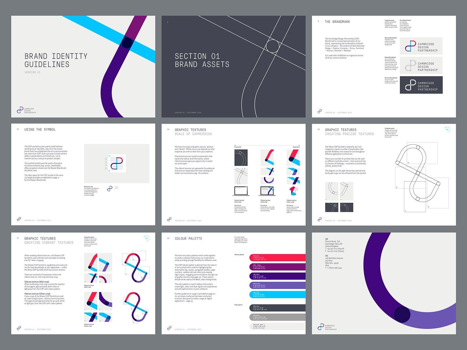 Cambridge Designer Partnership Brand Identity Guidelines Brand Guidelines Design Brand Book