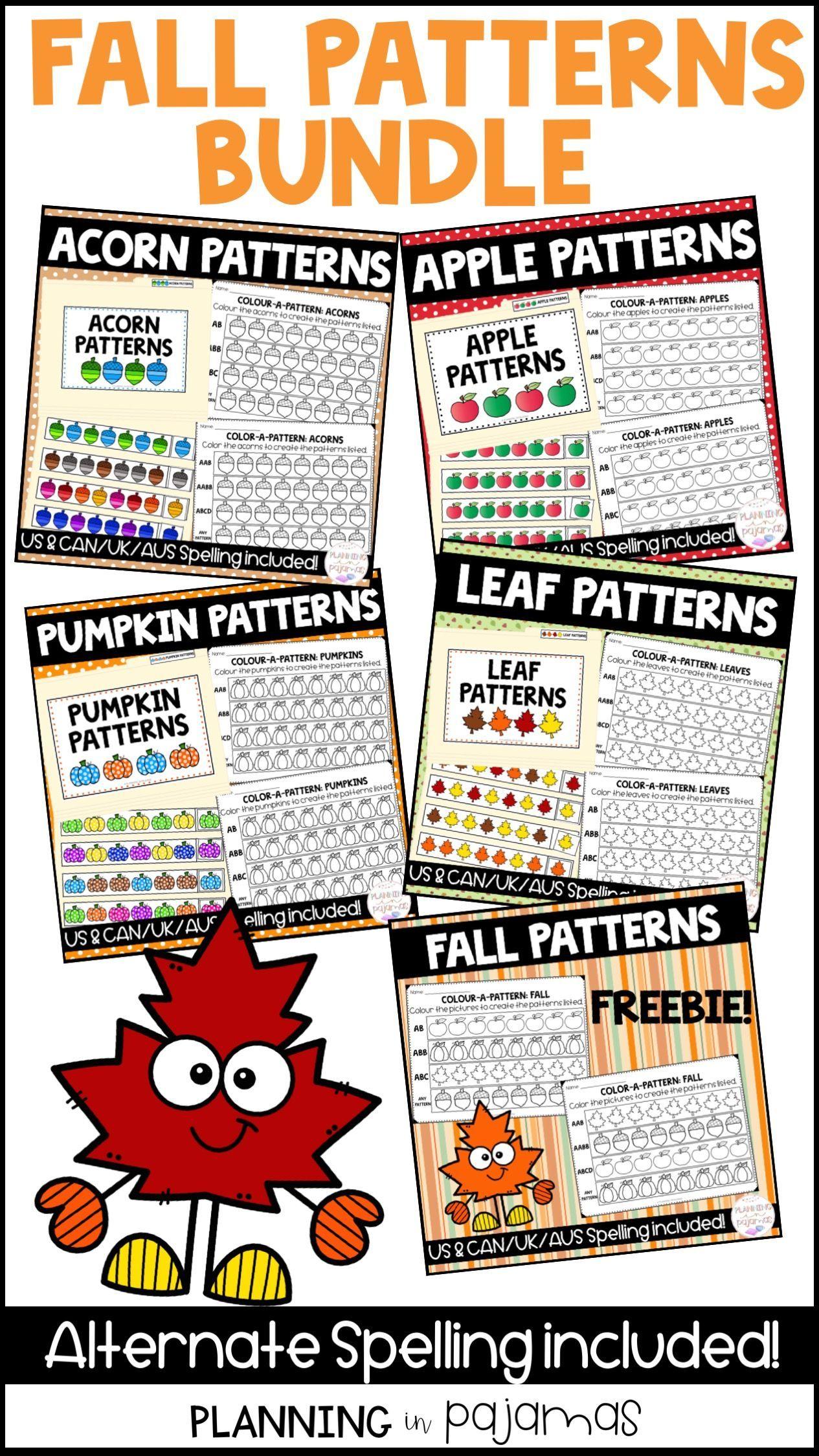 Pin On Fall In Kindergarten