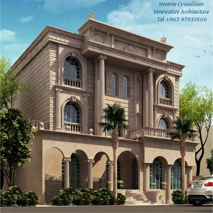 Classic exterior design by inverse architecture firm Style house fashion trading company uae