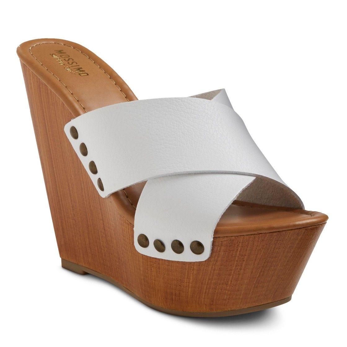 22211e6761 Women s Leah Criss Cross Wooden Wedge | Products I Love & wishlist ...