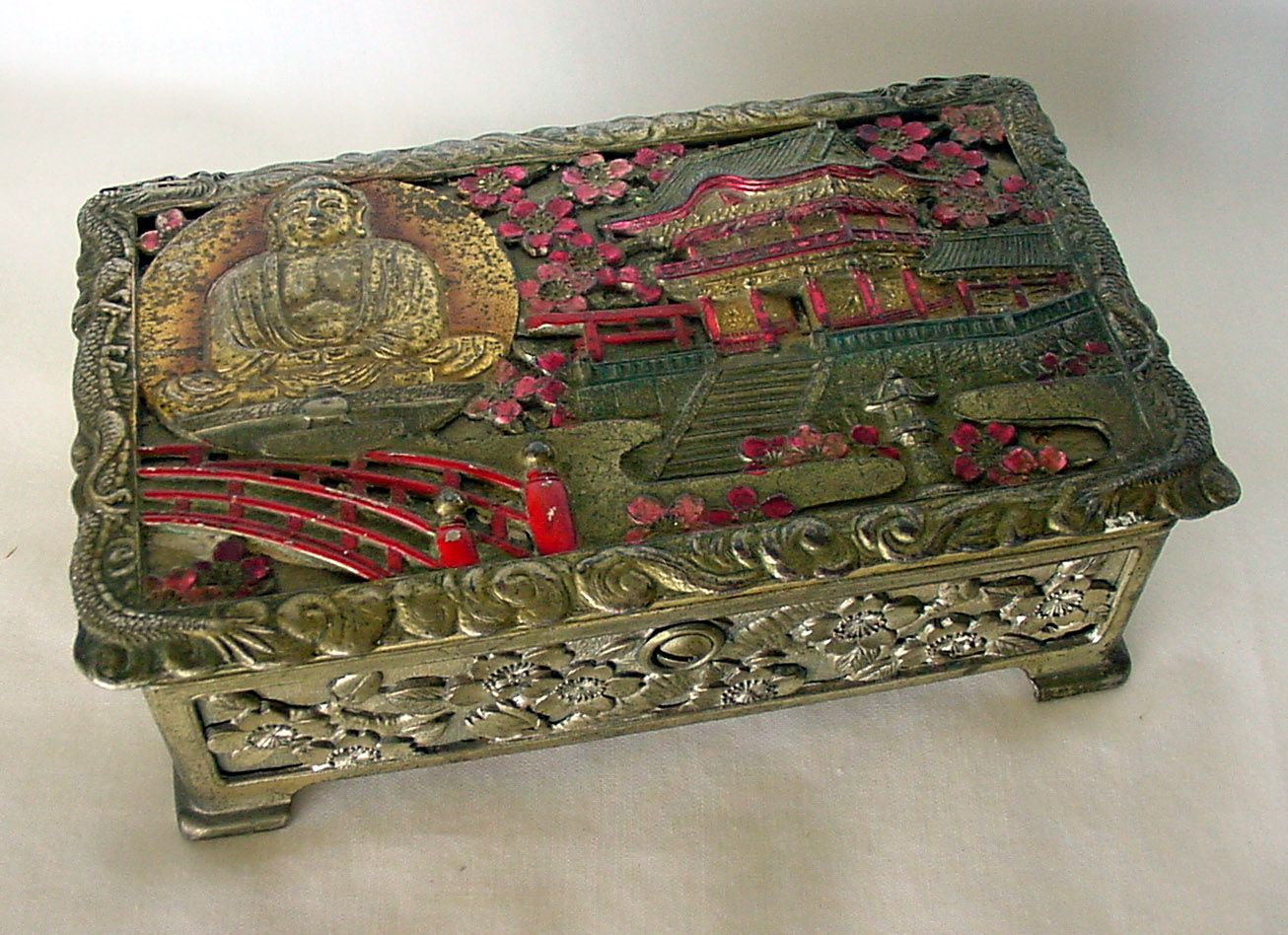 Japanese Metal Buddha jewelry box 147 best