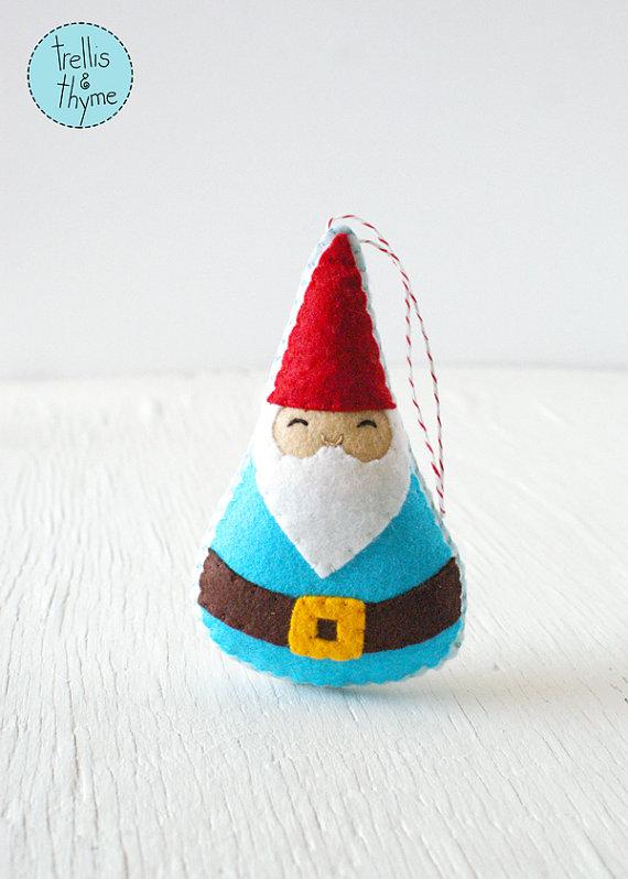PDF Pattern - Woodland Gnome Felt Sewing Pattern, Winter Holiday ...