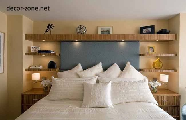Bedroom Wall Shelves Decorating Ideas Design Ideas Bed Wall ...