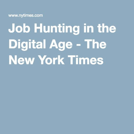 Job Hunting in the Digital Age Resume skills, Digital and - perfect skills for resume