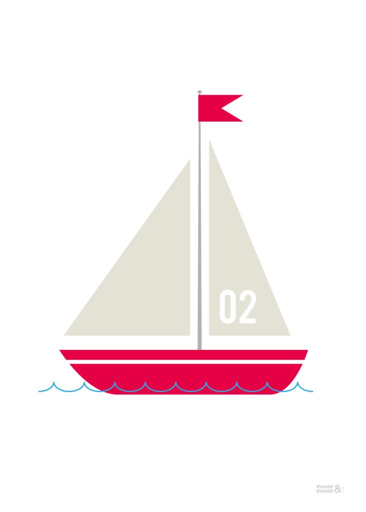 Sailing Boat Print No 2 Showler Showler Boat Print Boat Print